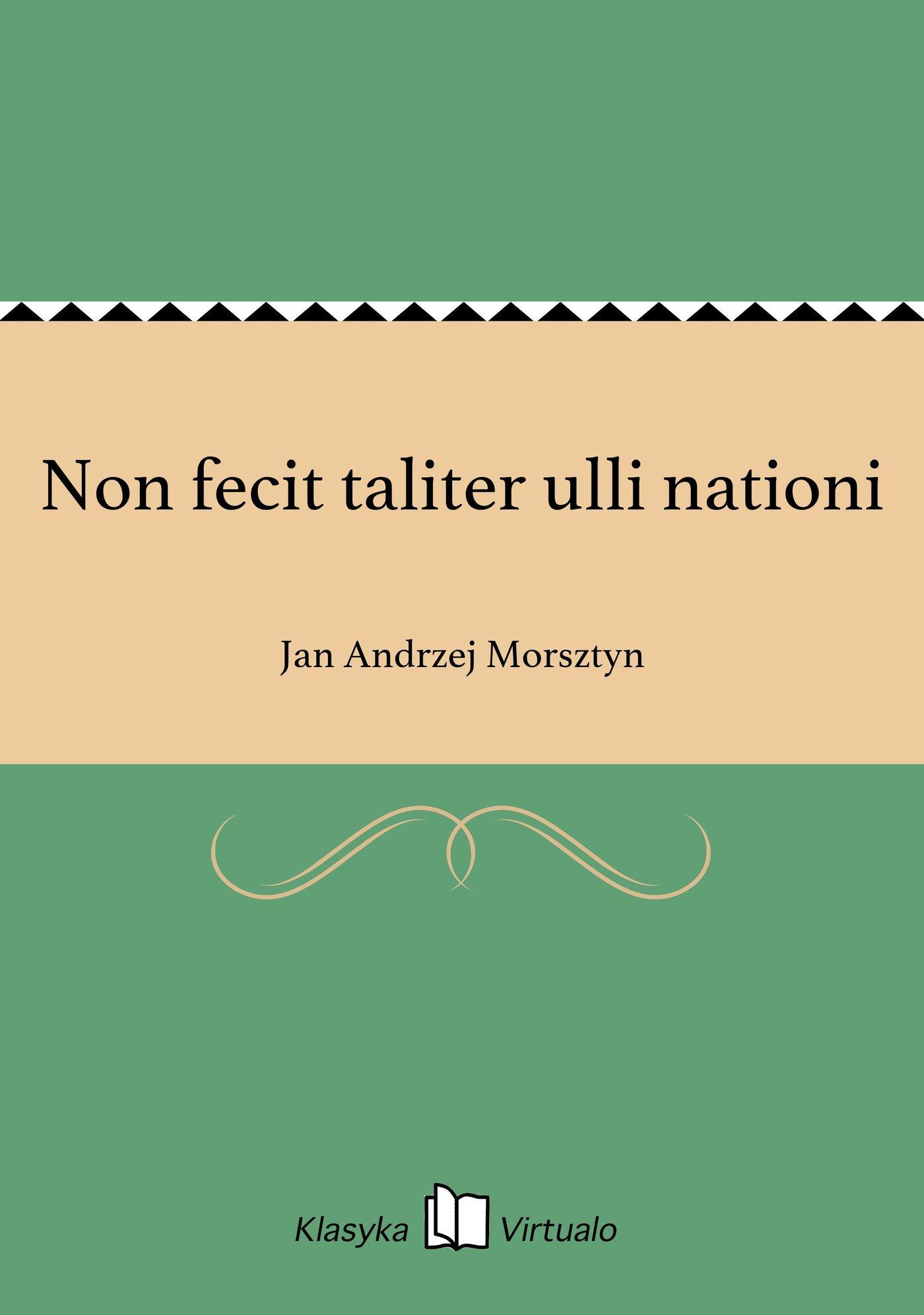 Non fecit taliter ulli nationi - Ebook (Książka EPUB) do pobrania w formacie EPUB