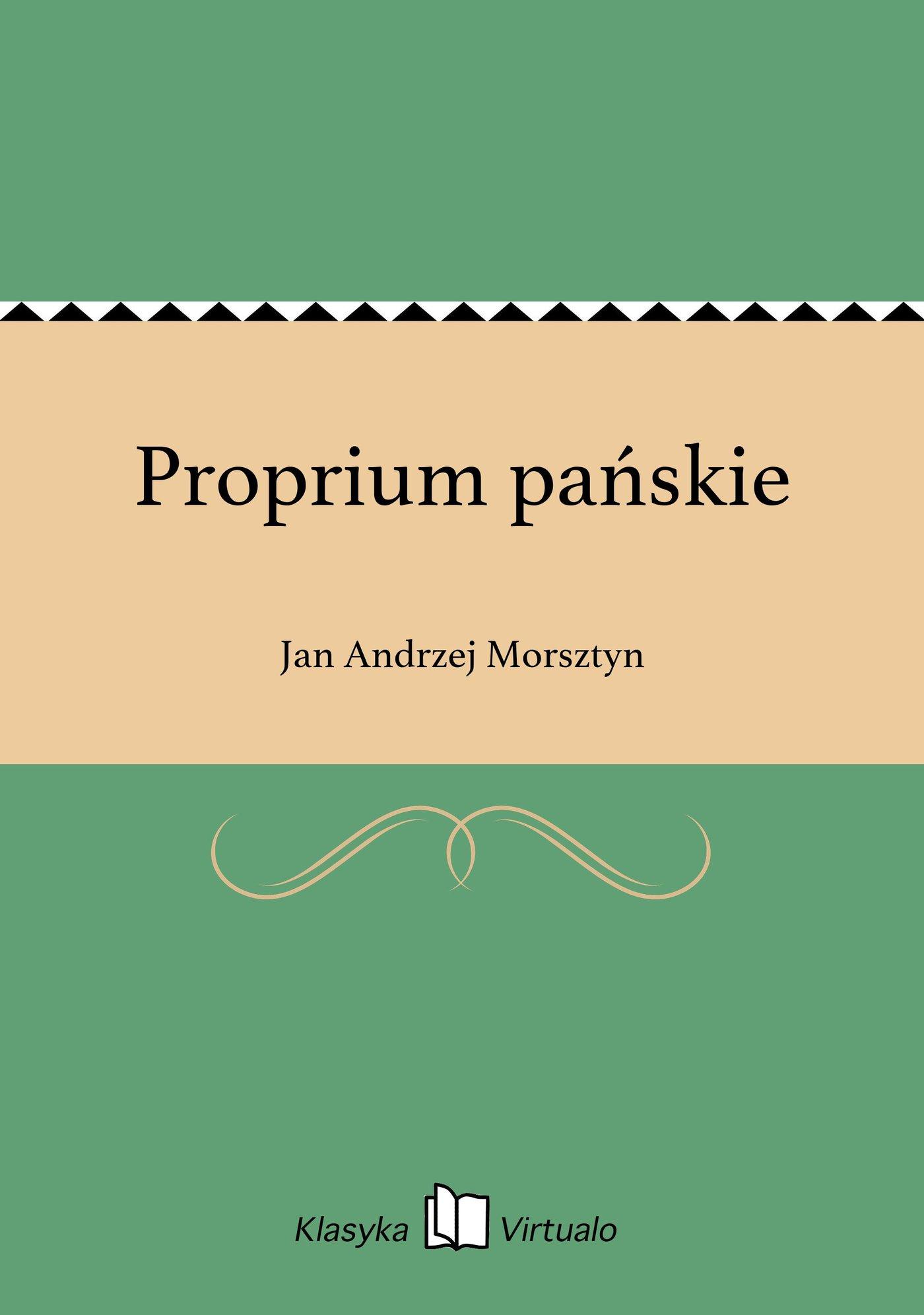Proprium pańskie - Ebook (Książka EPUB) do pobrania w formacie EPUB