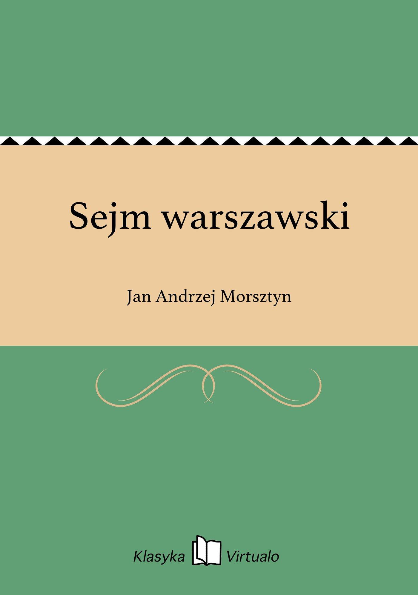 Sejm warszawski - Ebook (Książka EPUB) do pobrania w formacie EPUB