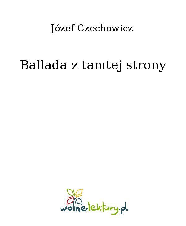Ballada z tamtej strony - Ebook (Książka EPUB) do pobrania w formacie EPUB