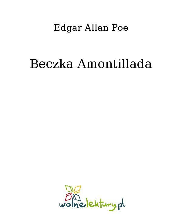 Beczka Amontillada - Ebook (Książka EPUB) do pobrania w formacie EPUB