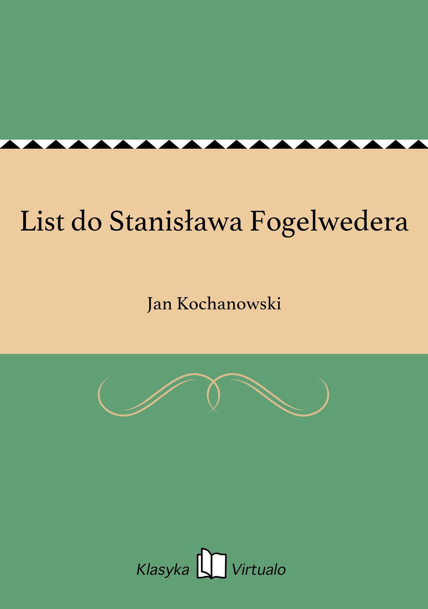 List do Stanisława Fogelwedera - Ebook (Książka EPUB) do pobrania w formacie EPUB