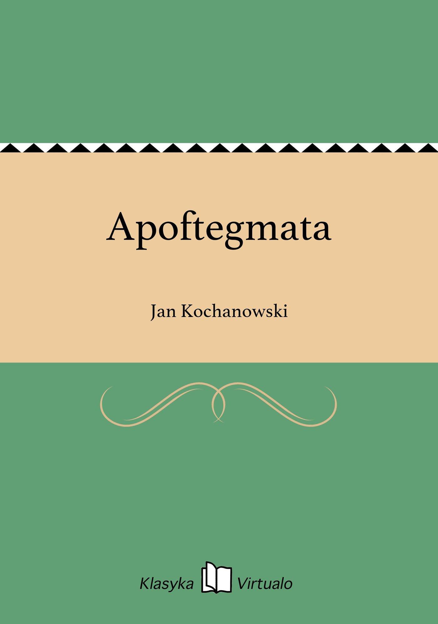 Apoftegmata - Ebook (Książka EPUB) do pobrania w formacie EPUB