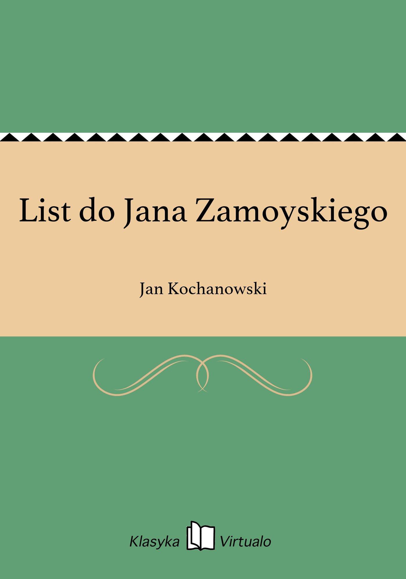 List do Jana Zamoyskiego - Ebook (Książka EPUB) do pobrania w formacie EPUB