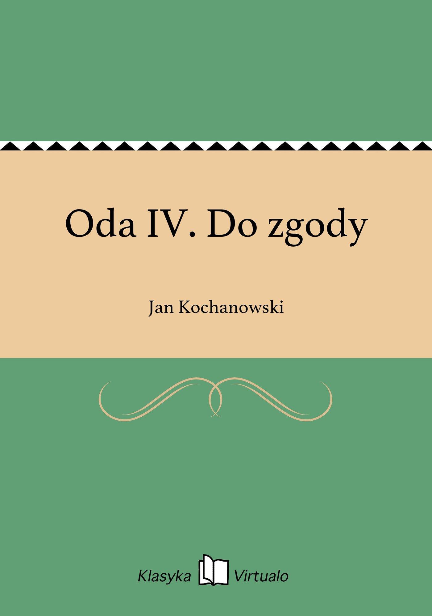Oda IV. Do zgody - Ebook (Książka EPUB) do pobrania w formacie EPUB