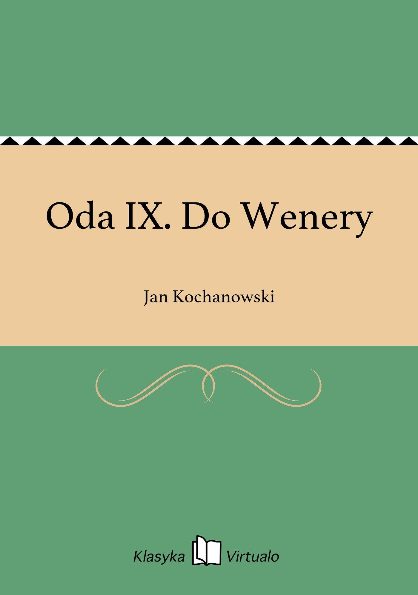 Oda IX. Do Wenery - Ebook (Książka EPUB) do pobrania w formacie EPUB