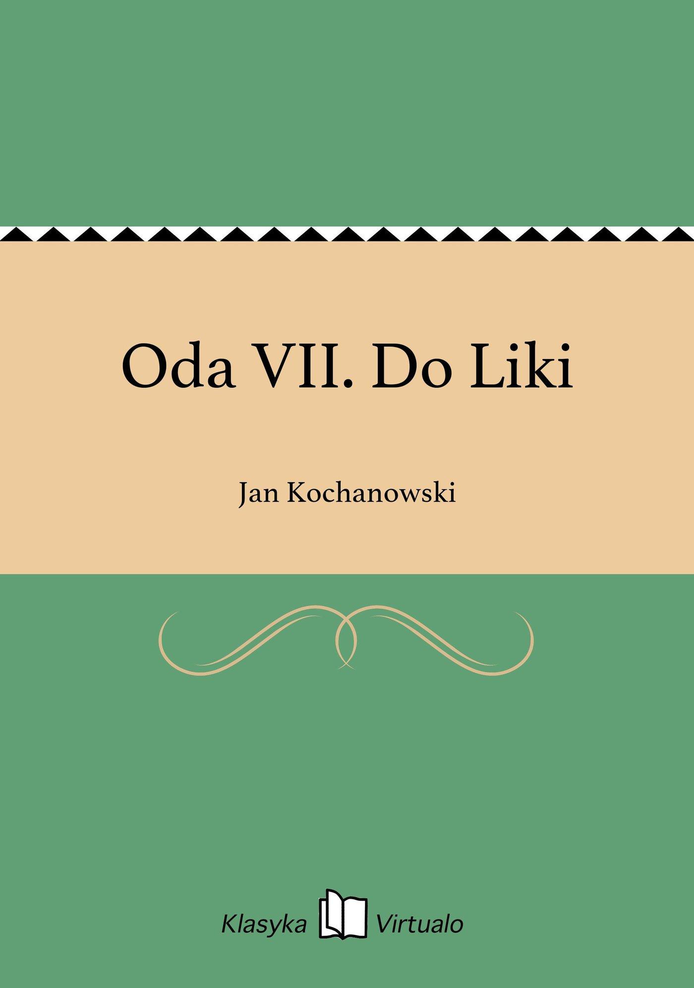 Oda VII. Do Liki - Ebook (Książka EPUB) do pobrania w formacie EPUB