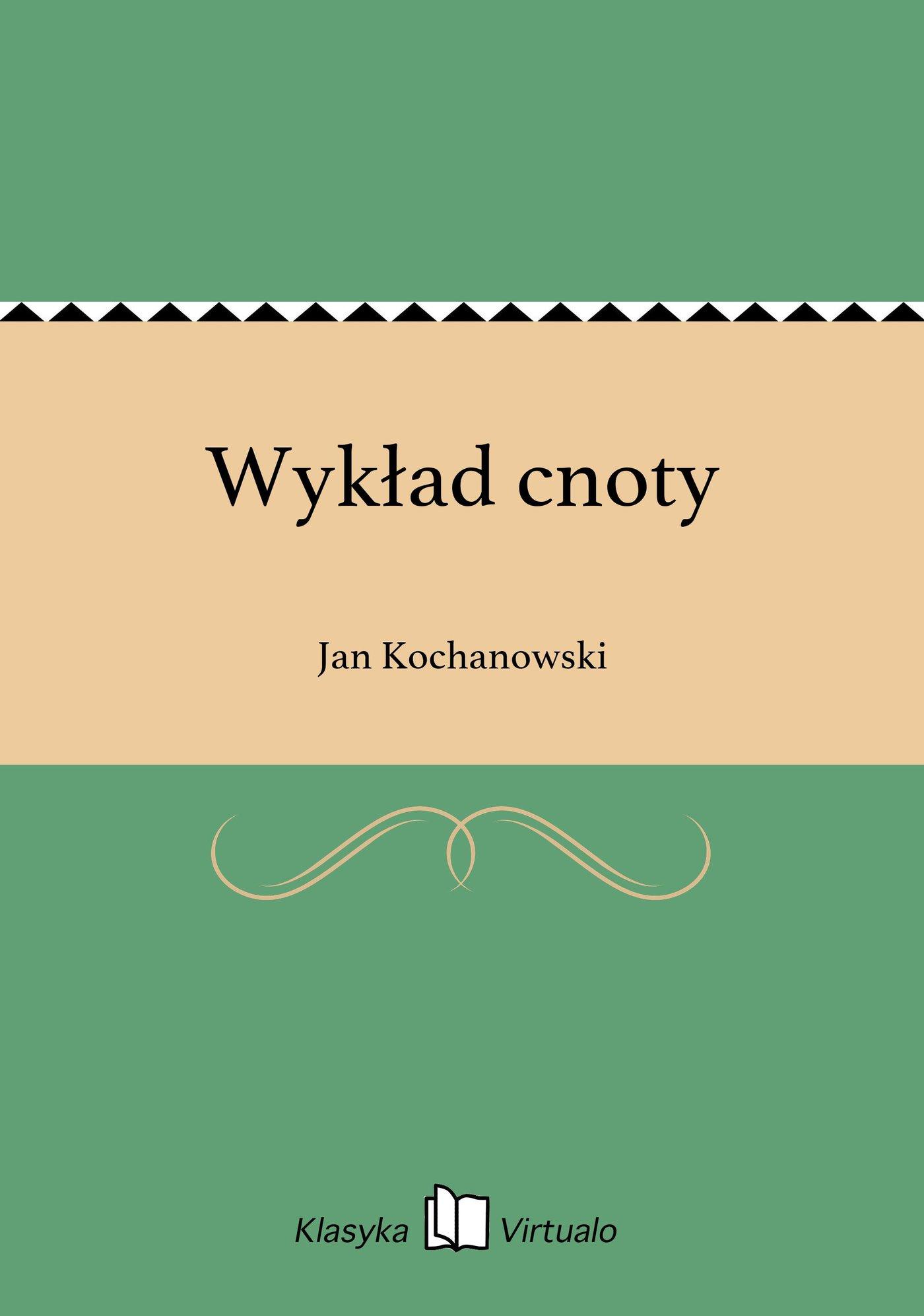 Wykład cnoty - Ebook (Książka EPUB) do pobrania w formacie EPUB