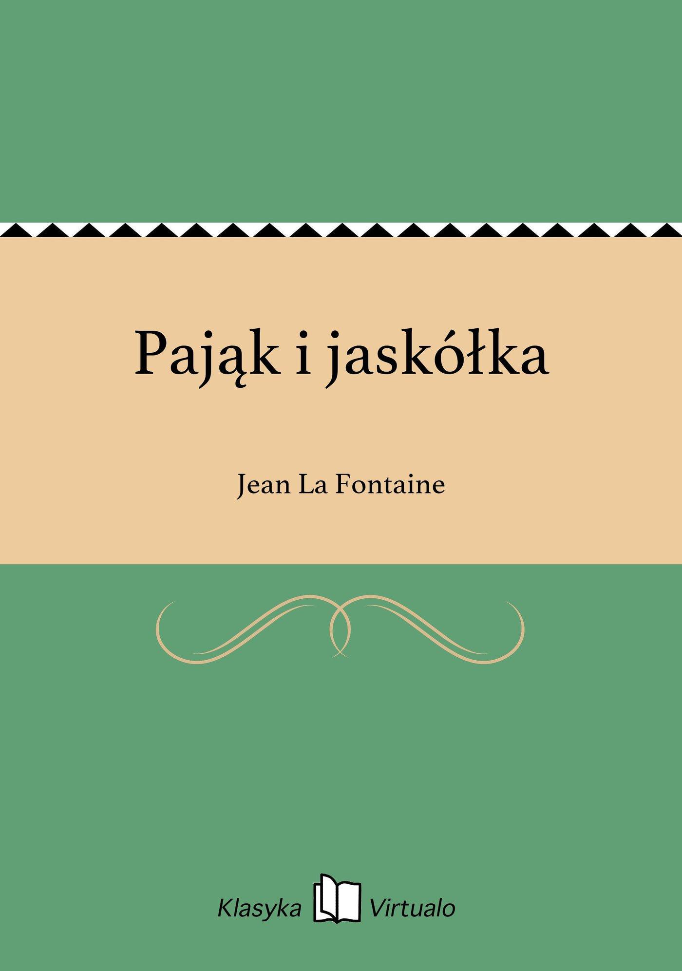 Pająk i jaskółka - Ebook (Książka EPUB) do pobrania w formacie EPUB