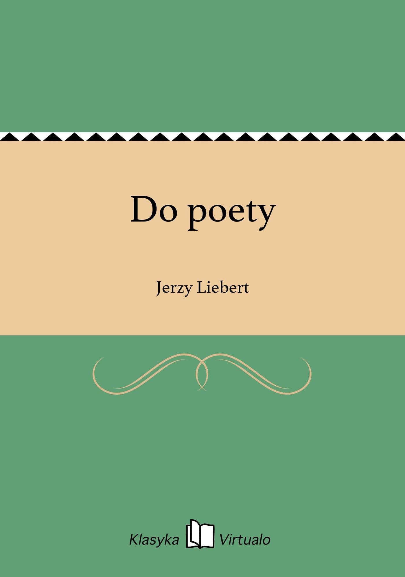 Do poety - Ebook (Książka EPUB) do pobrania w formacie EPUB