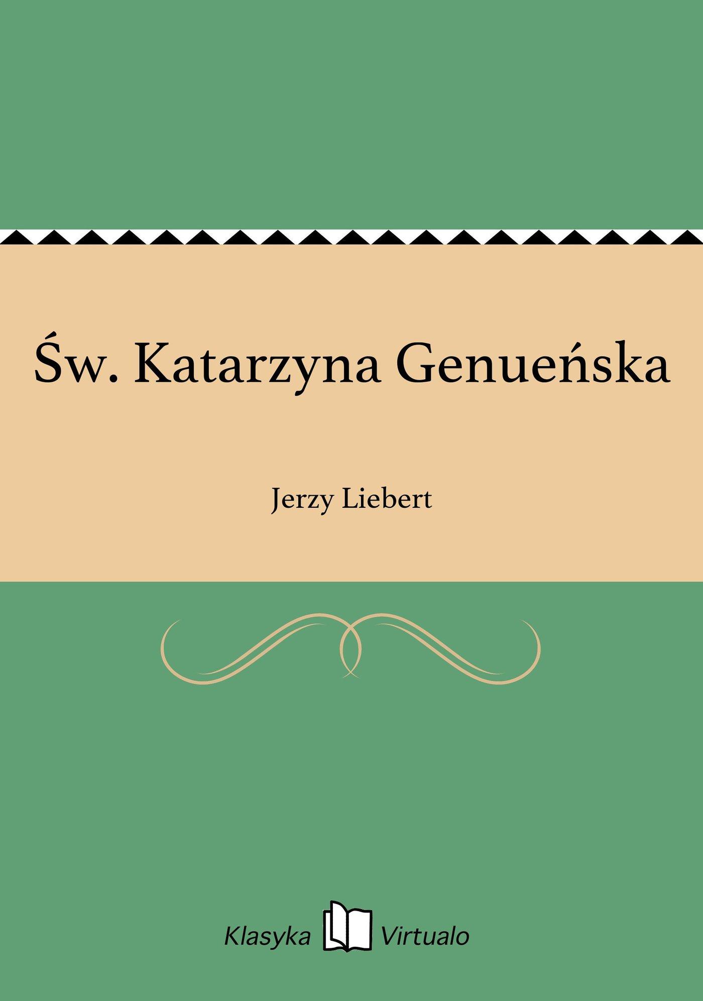 Św. Katarzyna Genueńska - Ebook (Książka EPUB) do pobrania w formacie EPUB