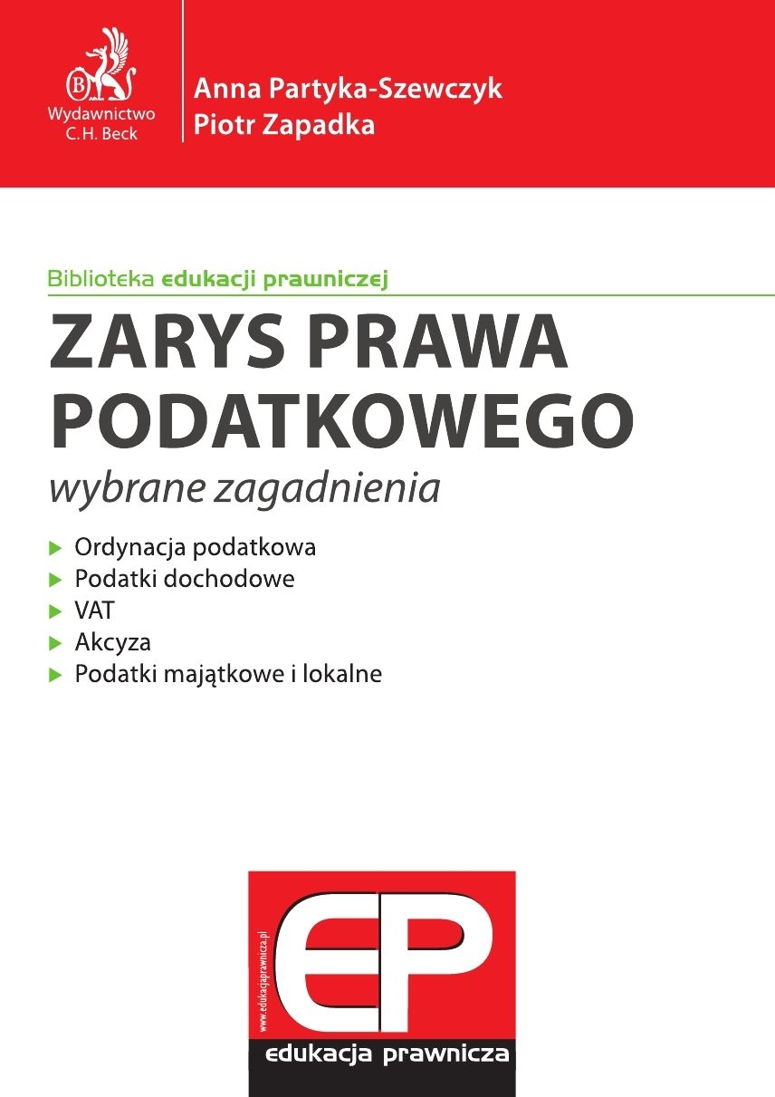 Zarys prawa podatkowego - wybrane zagadnienia - Ebook (Książka PDF) do pobrania w formacie PDF