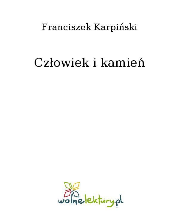 Człowiek i kamień - Ebook (Książka EPUB) do pobrania w formacie EPUB
