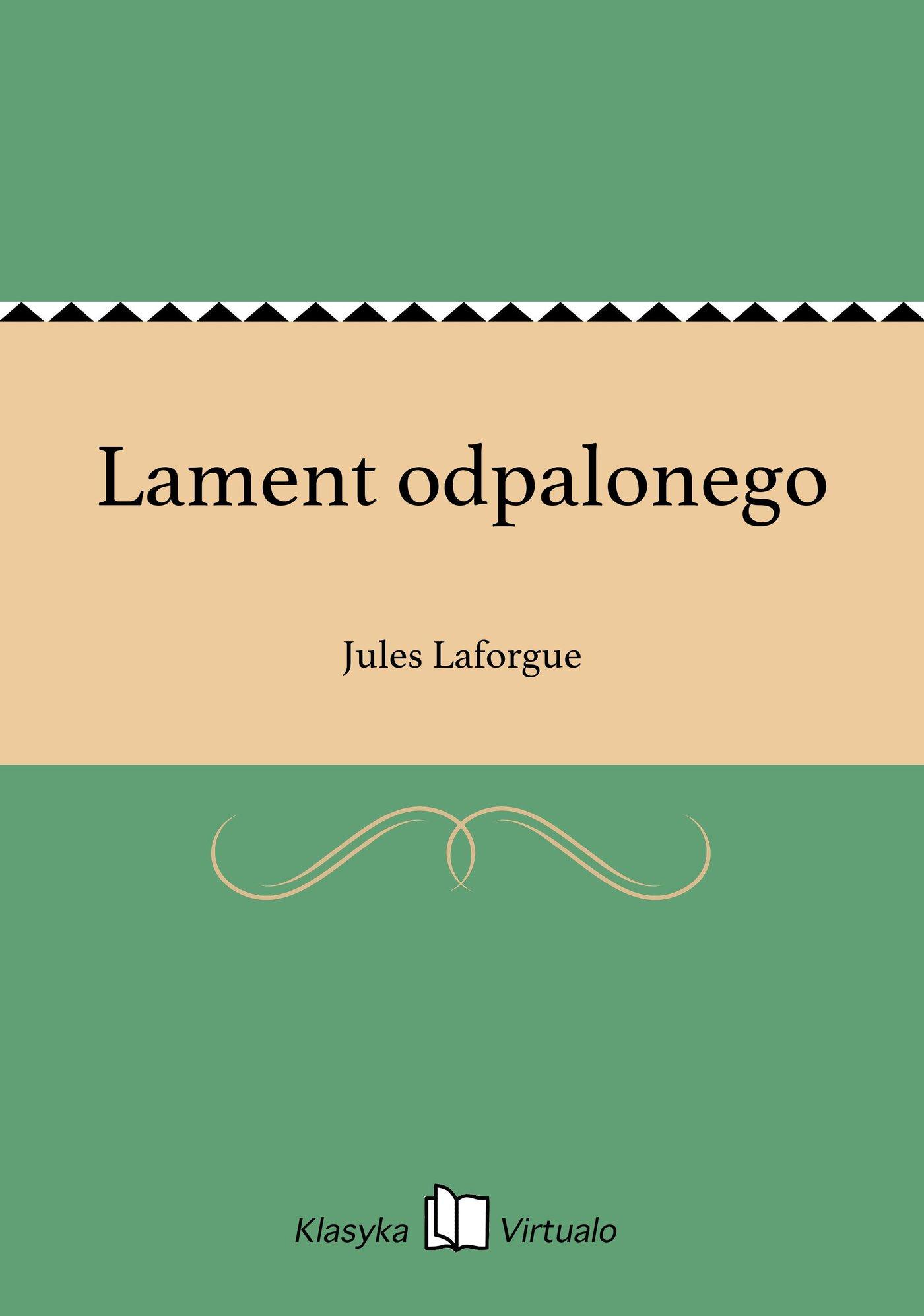 Lament odpalonego - Ebook (Książka EPUB) do pobrania w formacie EPUB