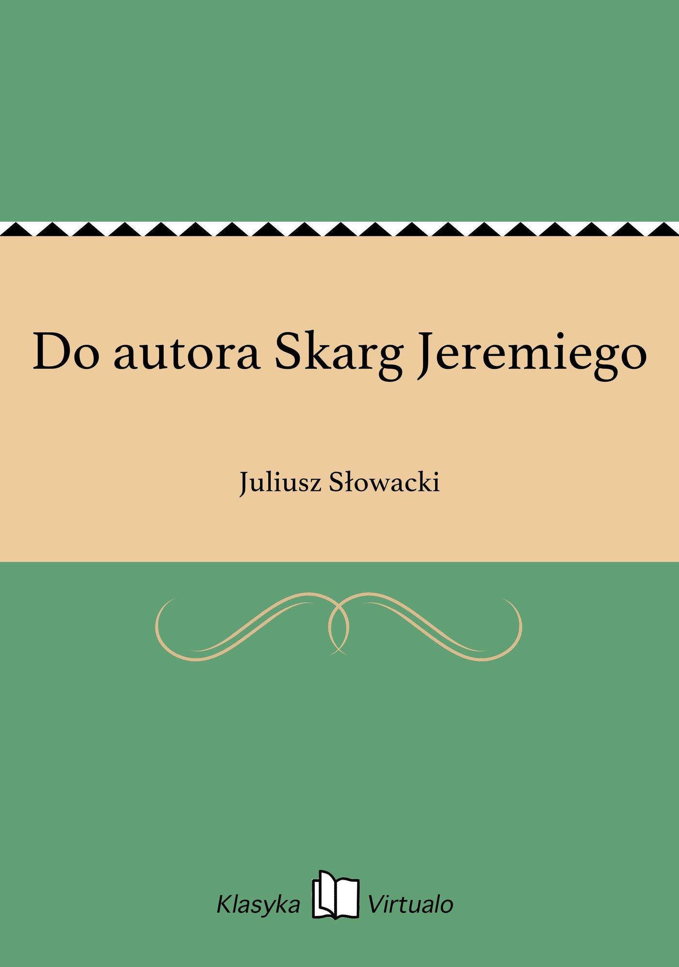 Do autora Skarg Jeremiego - Ebook (Książka EPUB) do pobrania w formacie EPUB