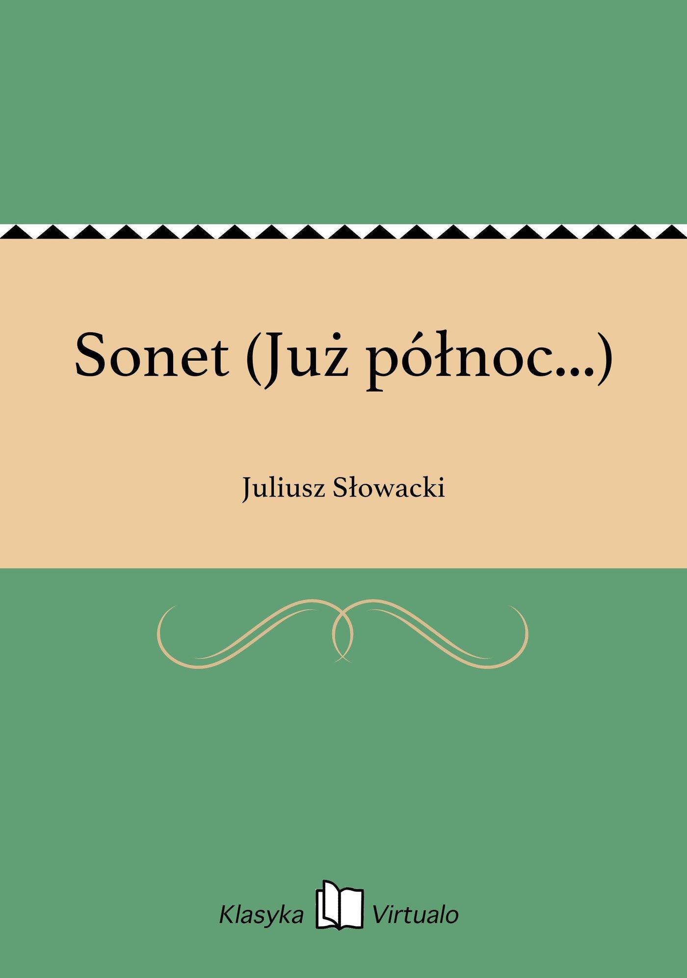 Sonet (Już północ...) - Ebook (Książka EPUB) do pobrania w formacie EPUB