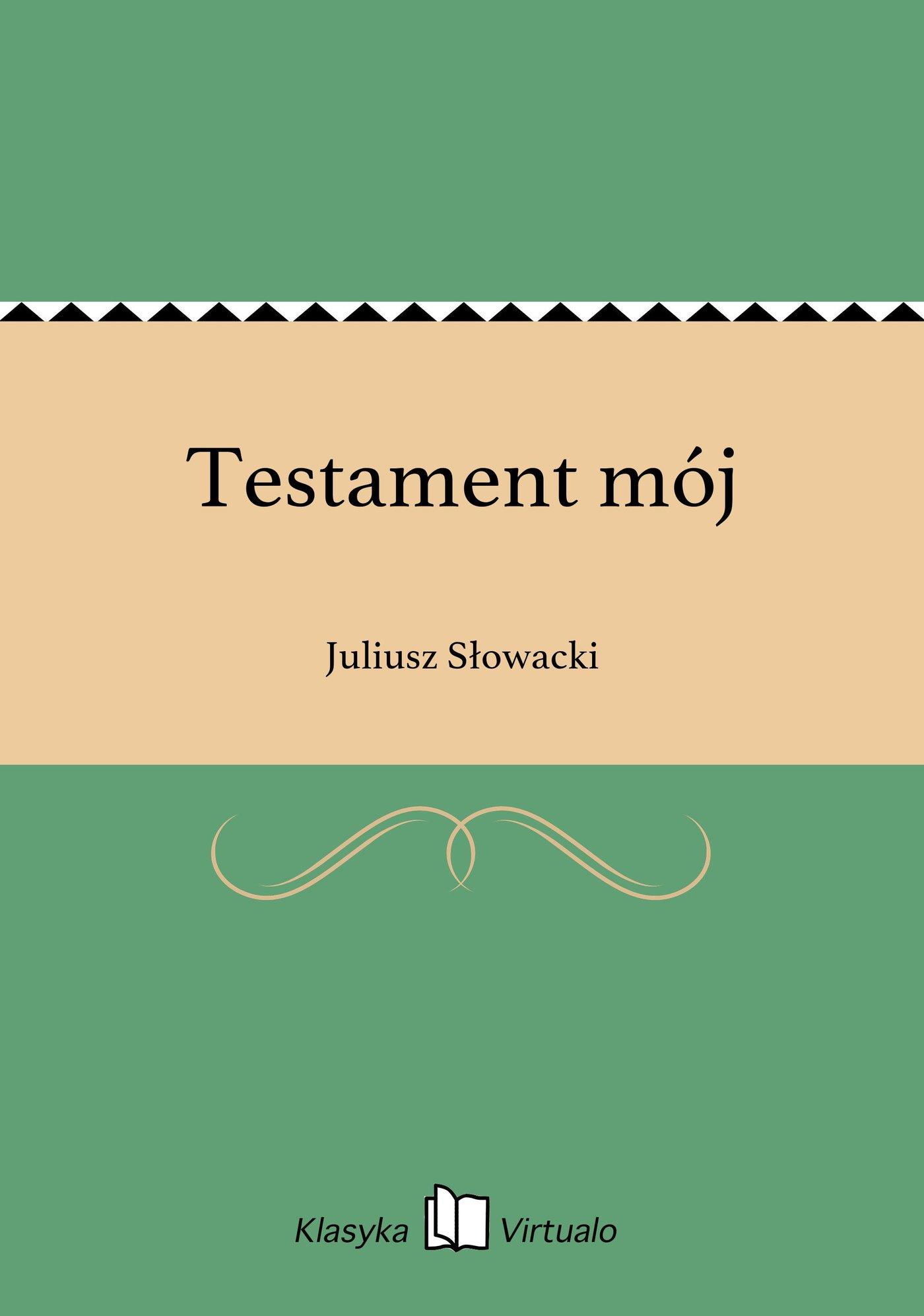 Testament mój - Ebook (Książka EPUB) do pobrania w formacie EPUB