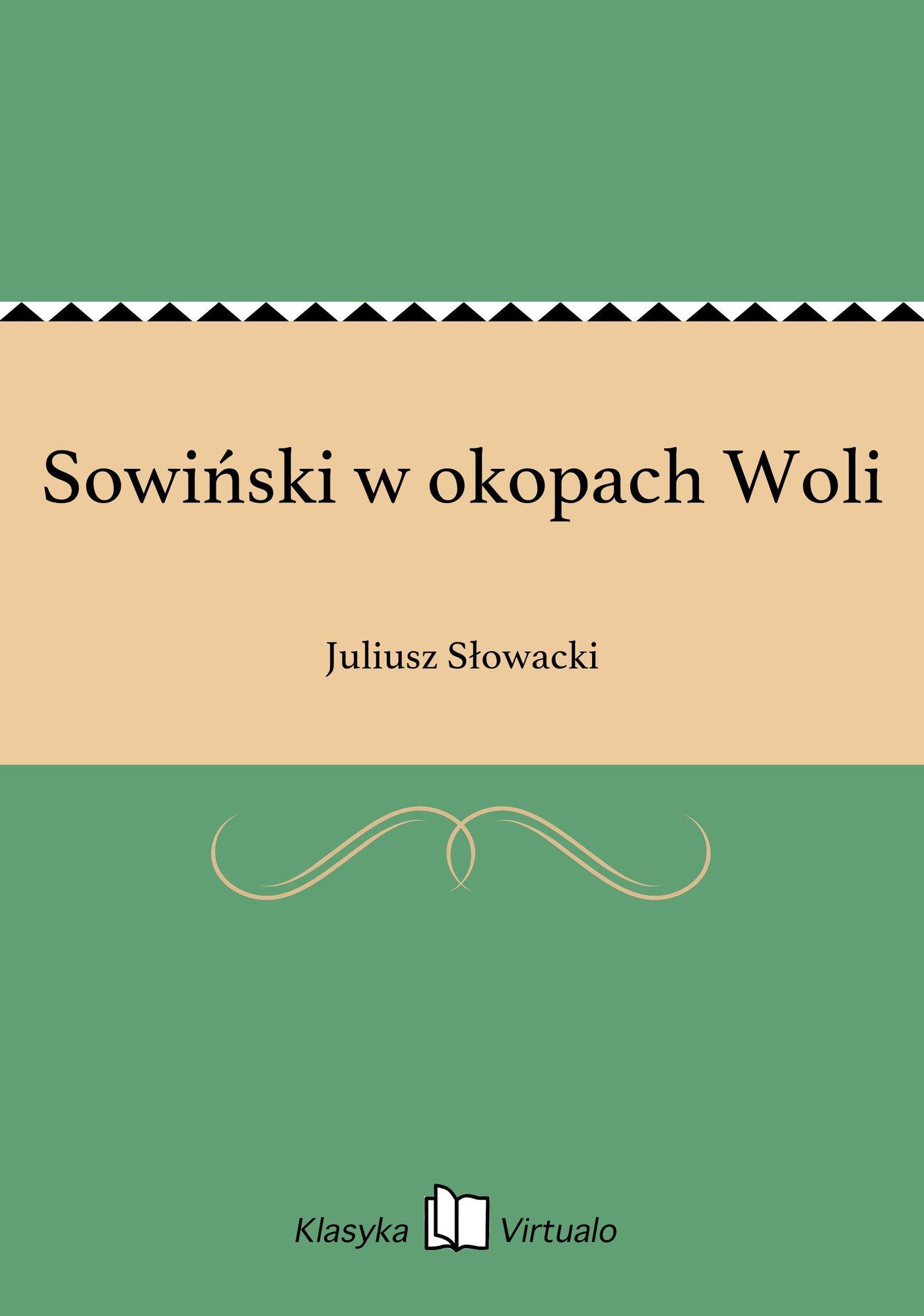 Sowiński w okopach Woli - Ebook (Książka EPUB) do pobrania w formacie EPUB