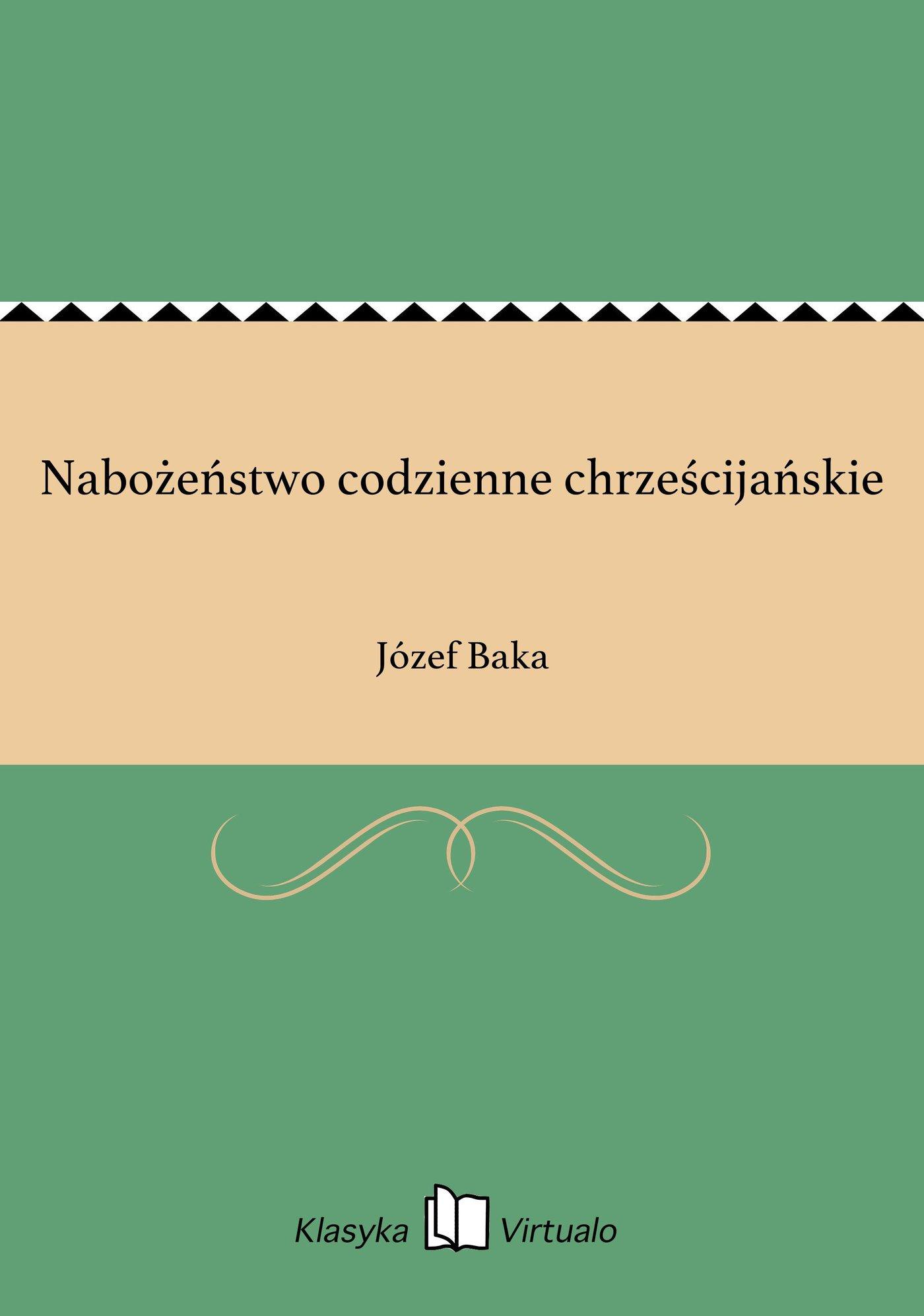 Nabożeństwo codzienne chrześcijańskie - Ebook (Książka EPUB) do pobrania w formacie EPUB