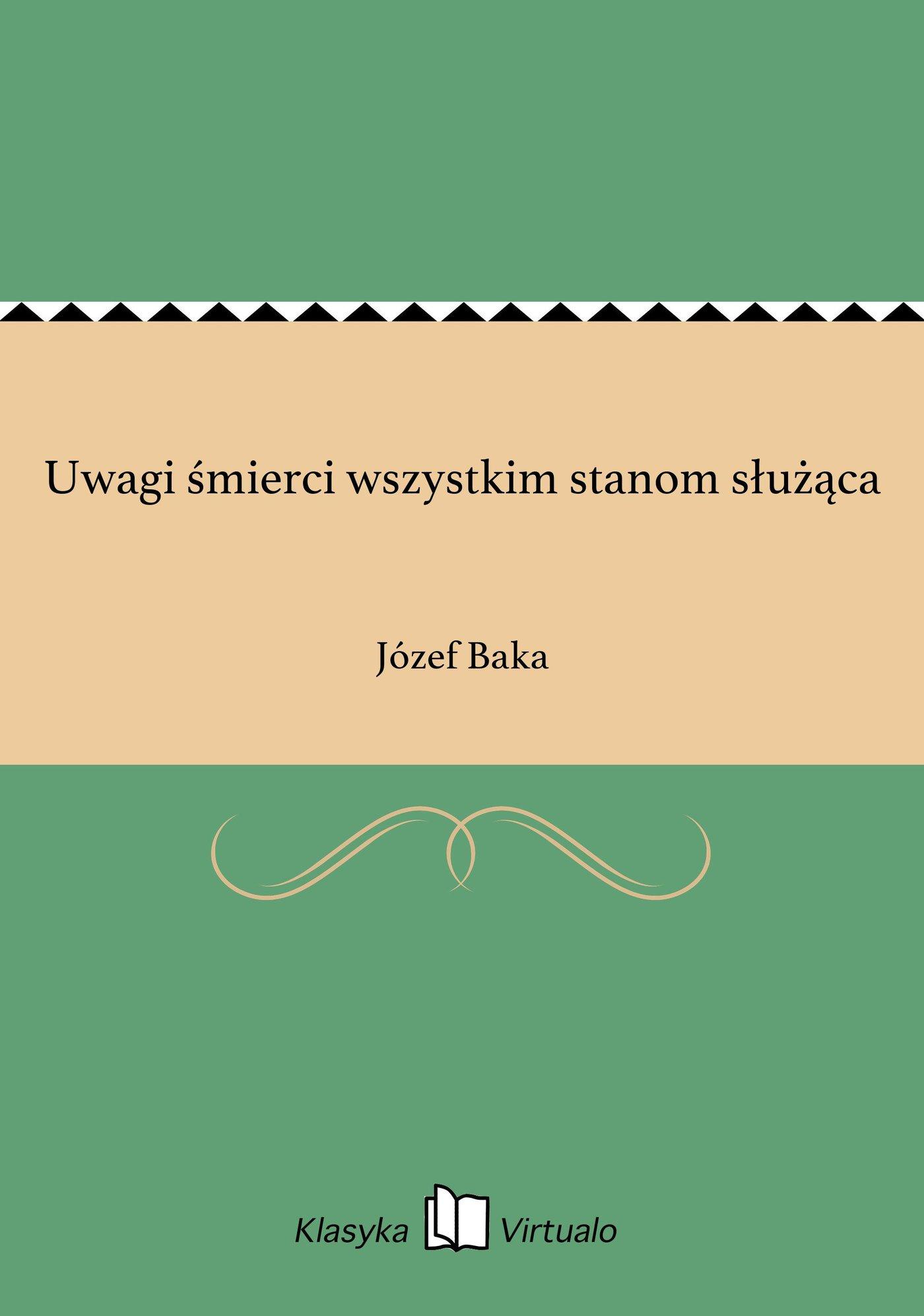 Uwagi śmierci wszystkim stanom służąca - Ebook (Książka EPUB) do pobrania w formacie EPUB