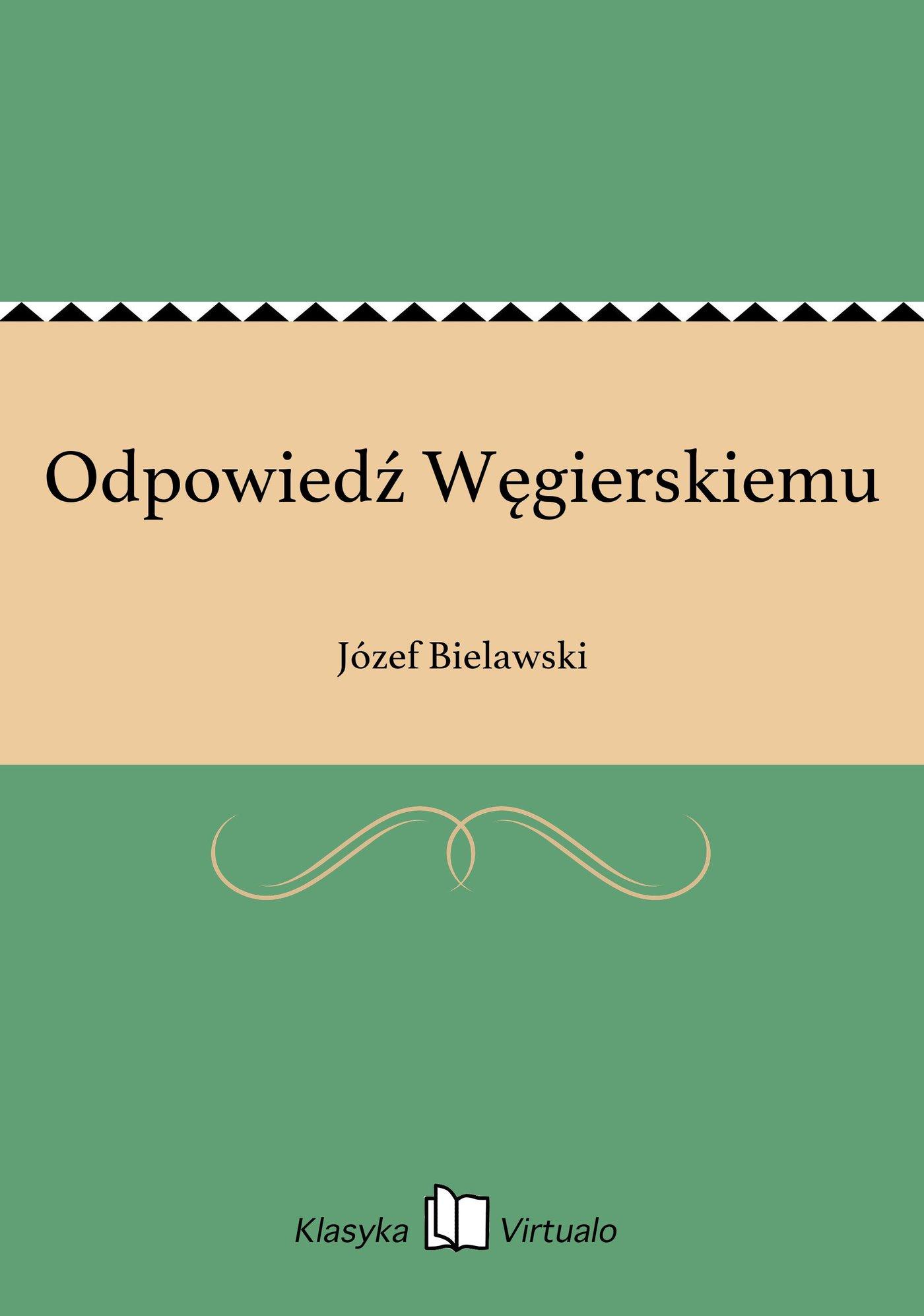 Odpowiedź Węgierskiemu - Ebook (Książka EPUB) do pobrania w formacie EPUB