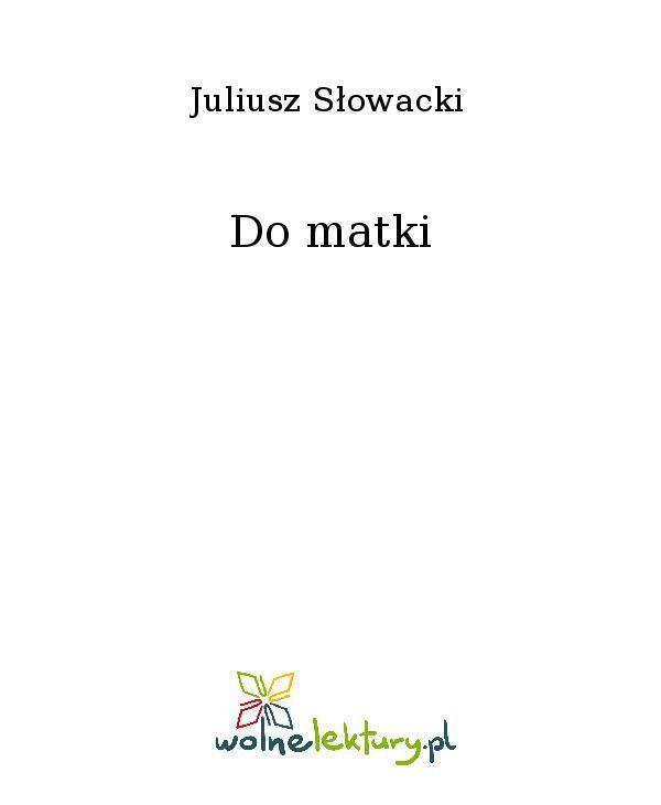 Do matki - Ebook (Książka EPUB) do pobrania w formacie EPUB