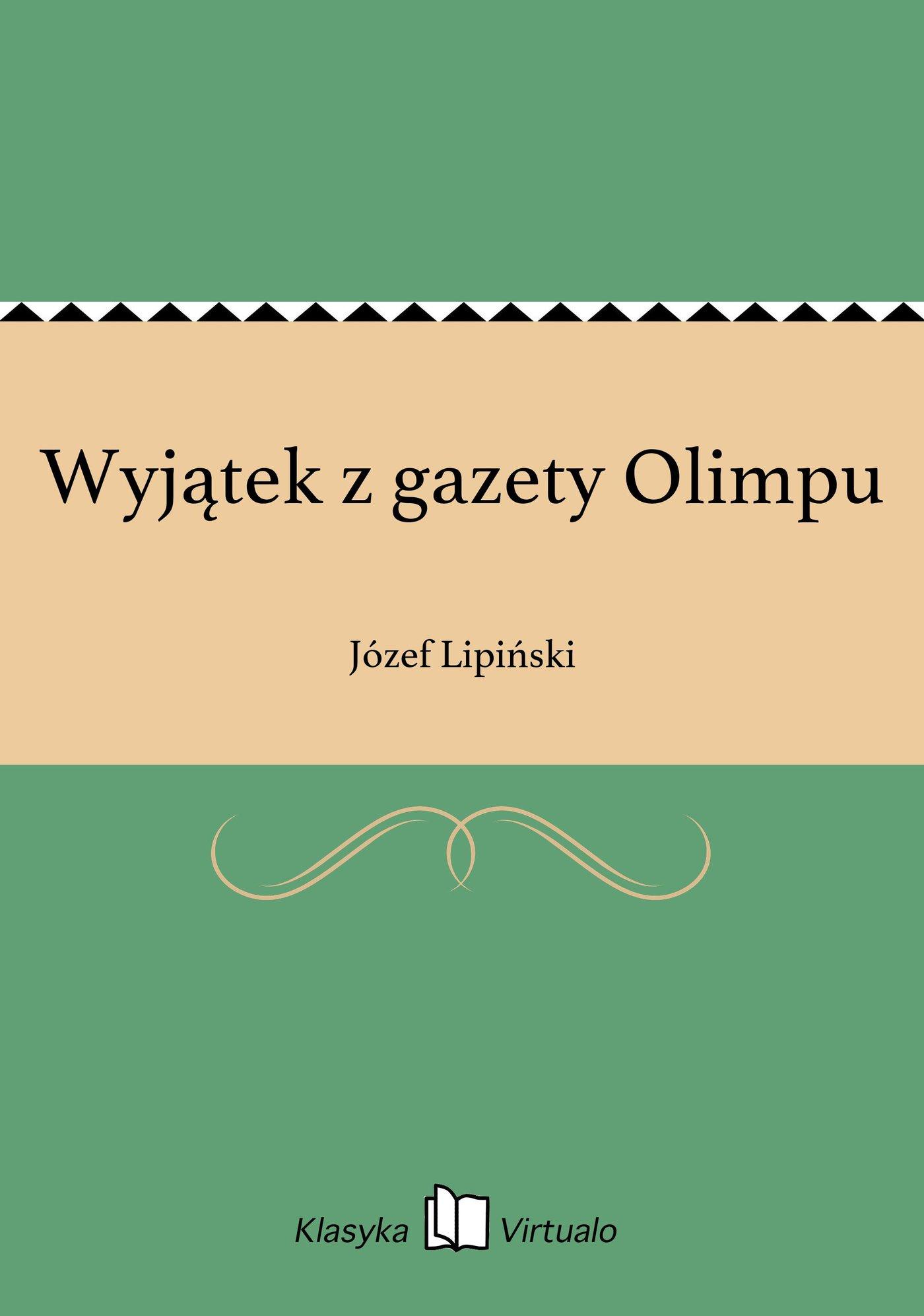 Wyjątek z gazety Olimpu - Ebook (Książka EPUB) do pobrania w formacie EPUB