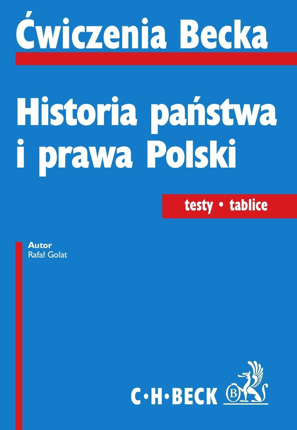 Historia państwa i prawa Polski. Testy. Tablice - Ebook (Książka PDF) do pobrania w formacie PDF