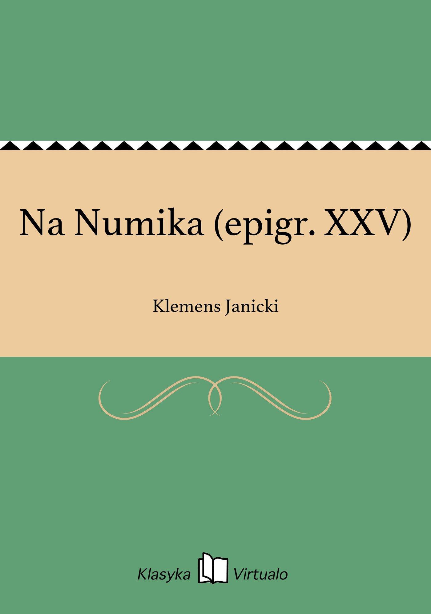 Na Numika (epigr. XXV) - Ebook (Książka EPUB) do pobrania w formacie EPUB