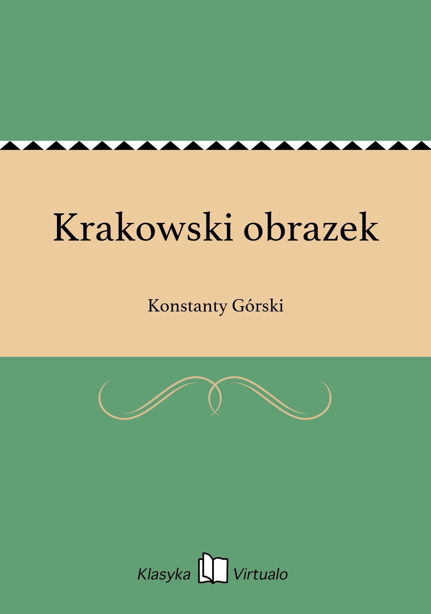 Krakowski obrazek - Ebook (Książka EPUB) do pobrania w formacie EPUB