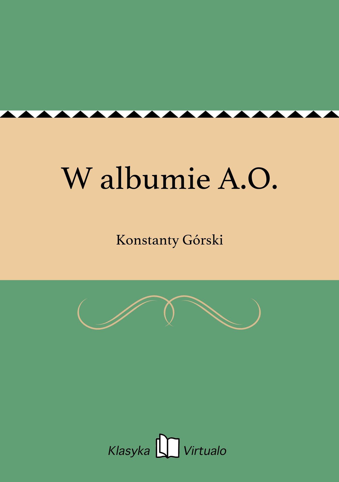 W albumie A.O. - Ebook (Książka EPUB) do pobrania w formacie EPUB