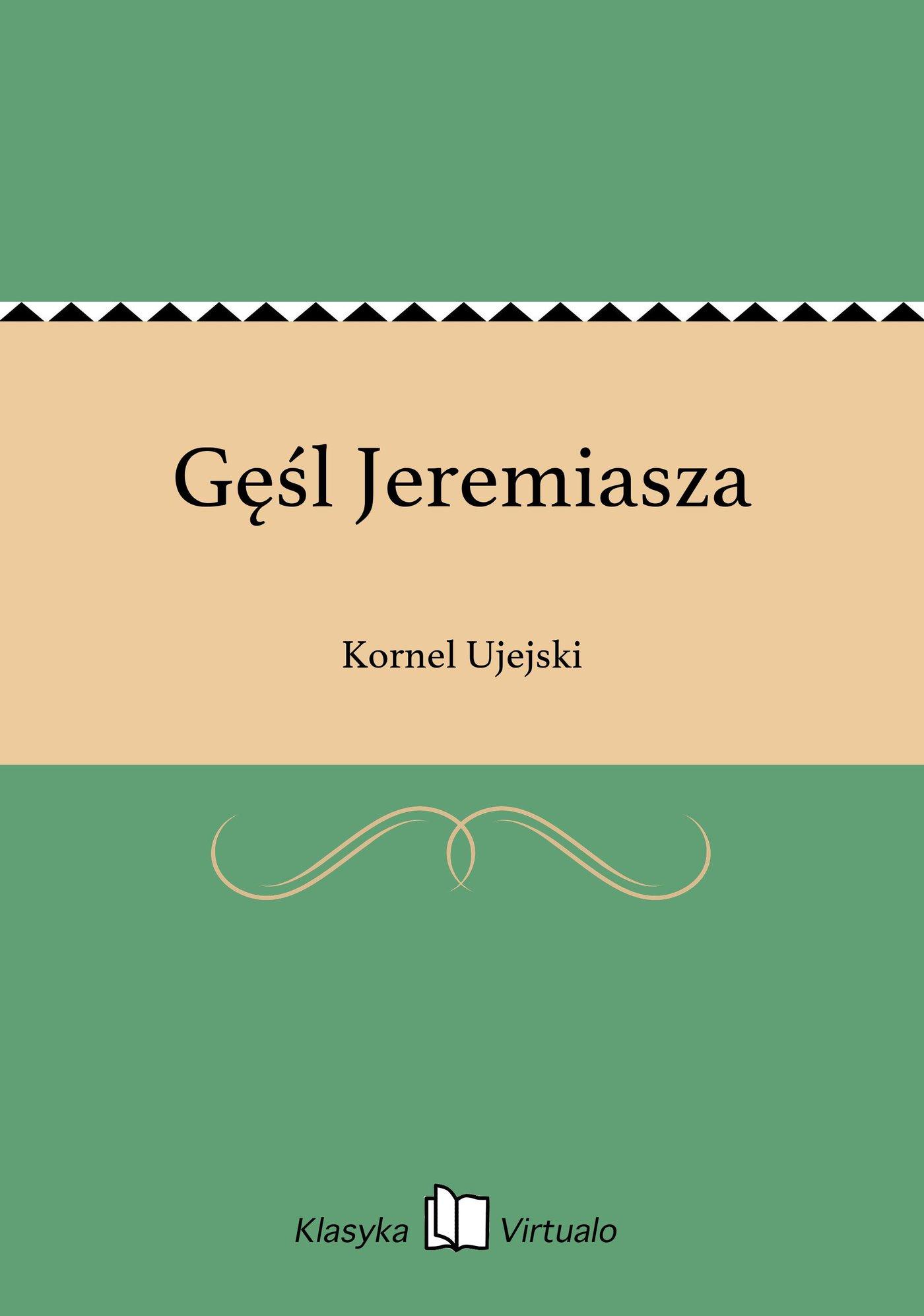 Gęśl Jeremiasza - Ebook (Książka EPUB) do pobrania w formacie EPUB