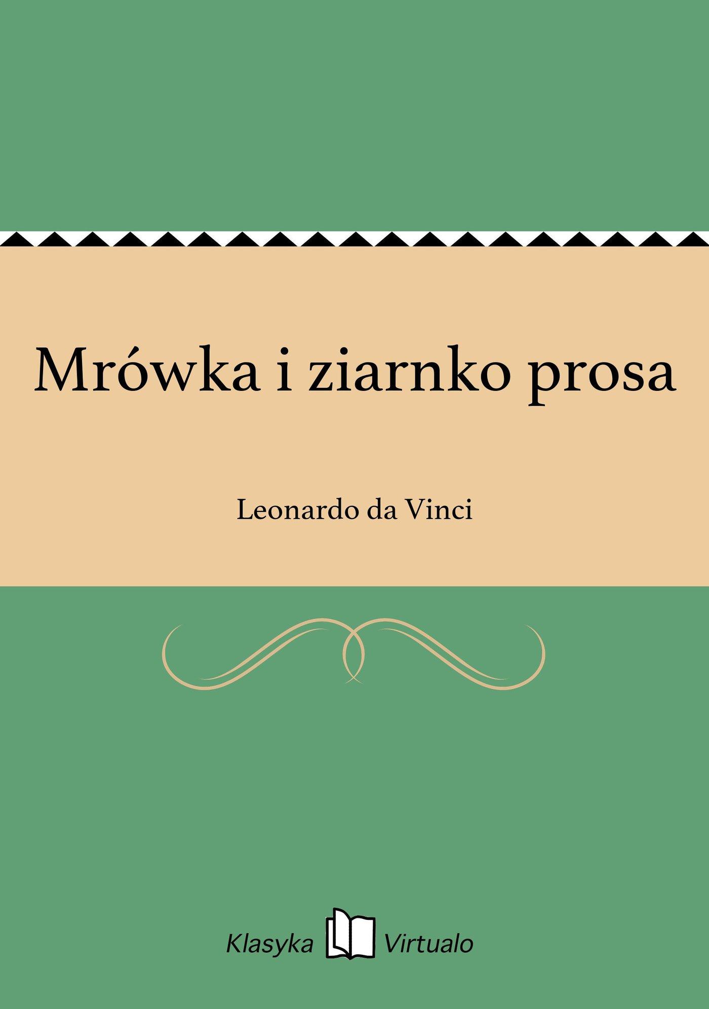 Mrówka i ziarnko prosa - Ebook (Książka EPUB) do pobrania w formacie EPUB