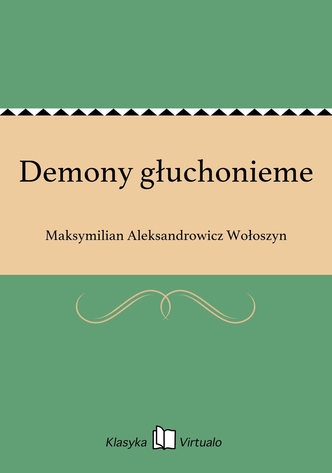 Demony głuchonieme - Ebook (Książka EPUB) do pobrania w formacie EPUB