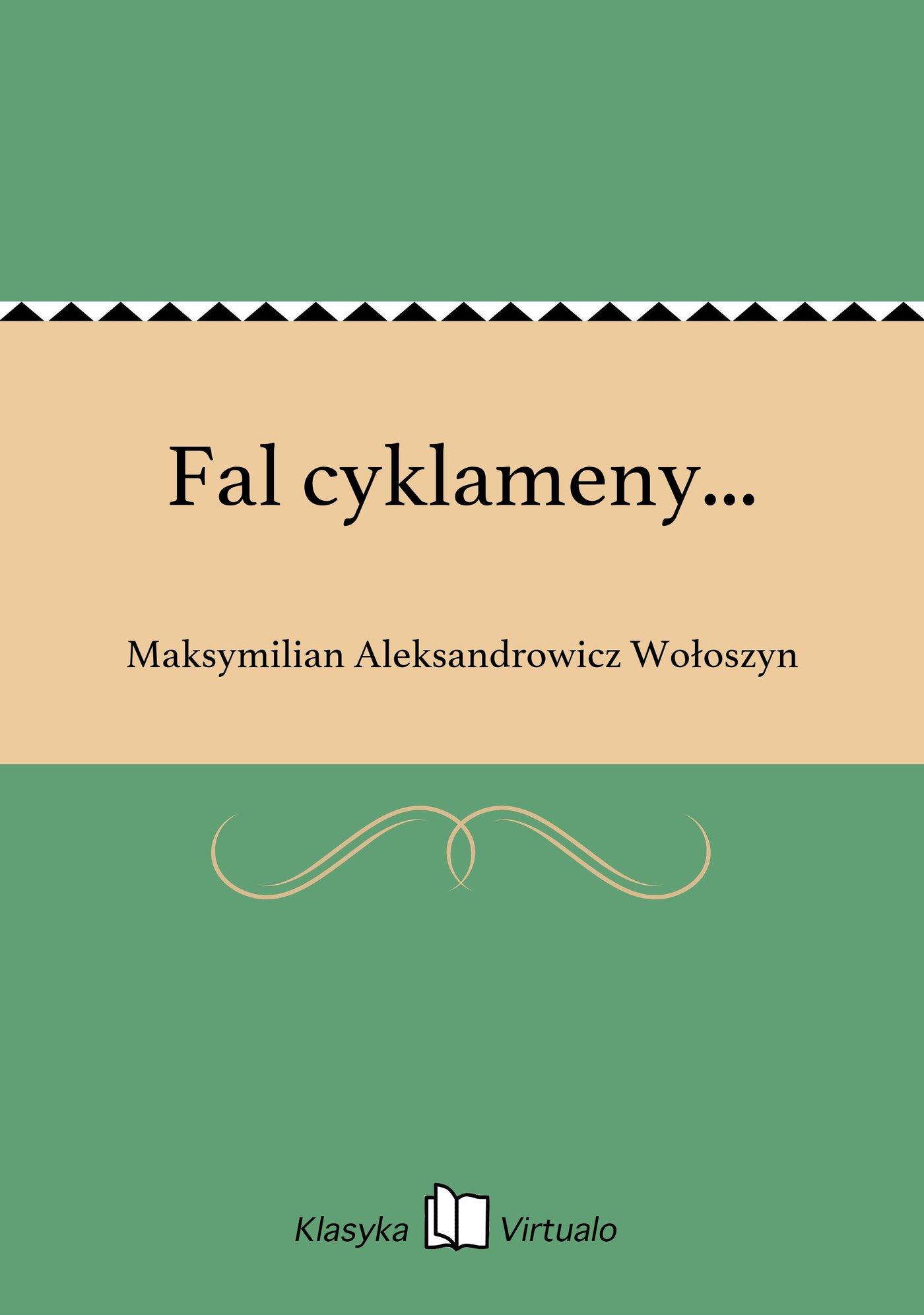 Fal cyklameny... - Ebook (Książka EPUB) do pobrania w formacie EPUB