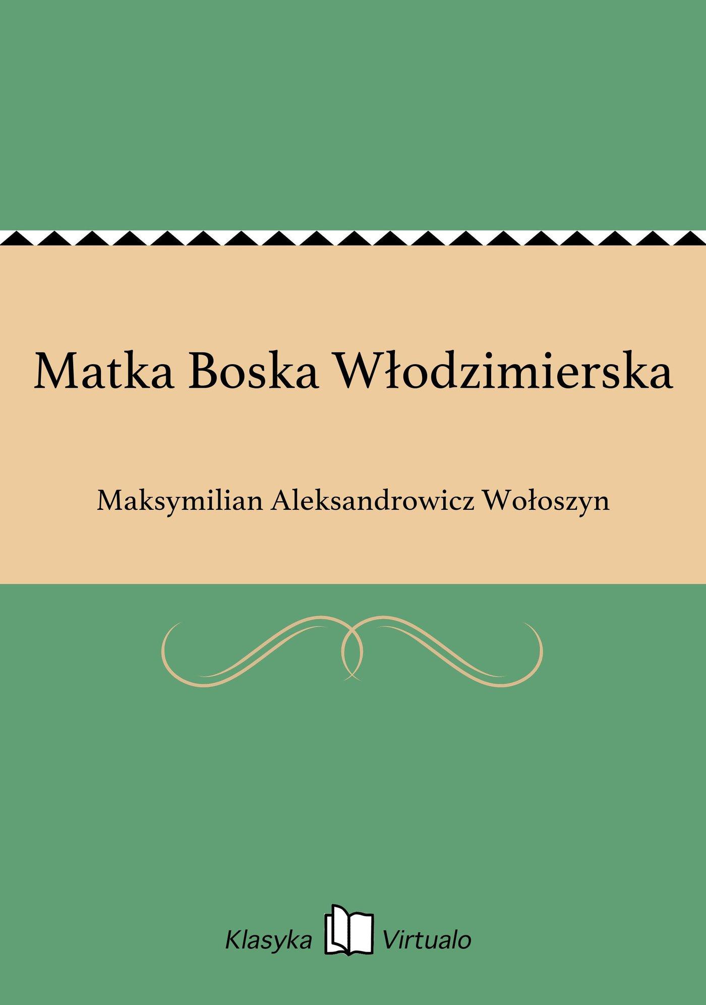 Matka Boska Włodzimierska - Ebook (Książka EPUB) do pobrania w formacie EPUB