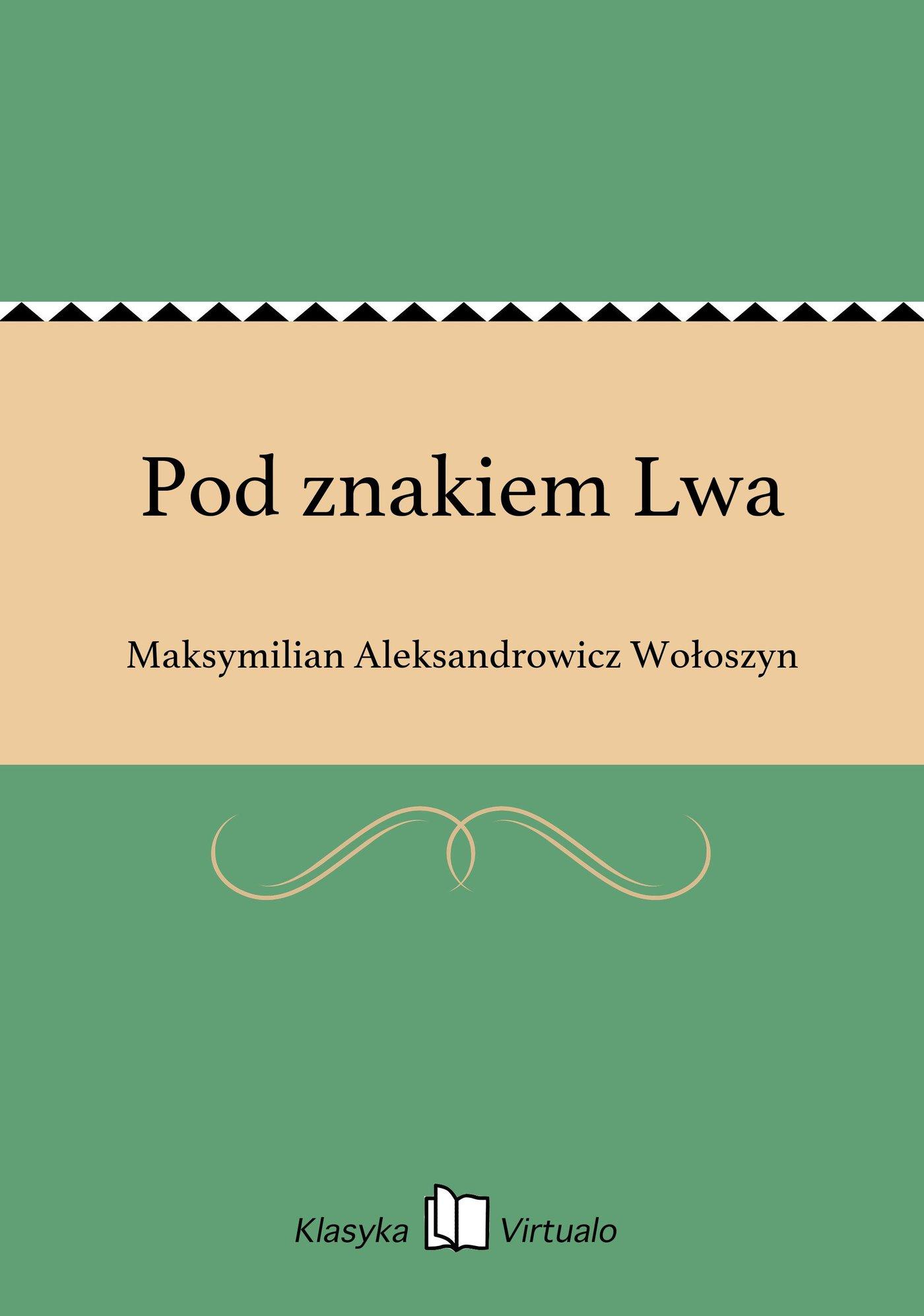 Pod znakiem Lwa - Ebook (Książka EPUB) do pobrania w formacie EPUB