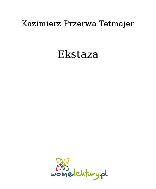 Ekstaza - Ebook (Książka EPUB) do pobrania w formacie EPUB