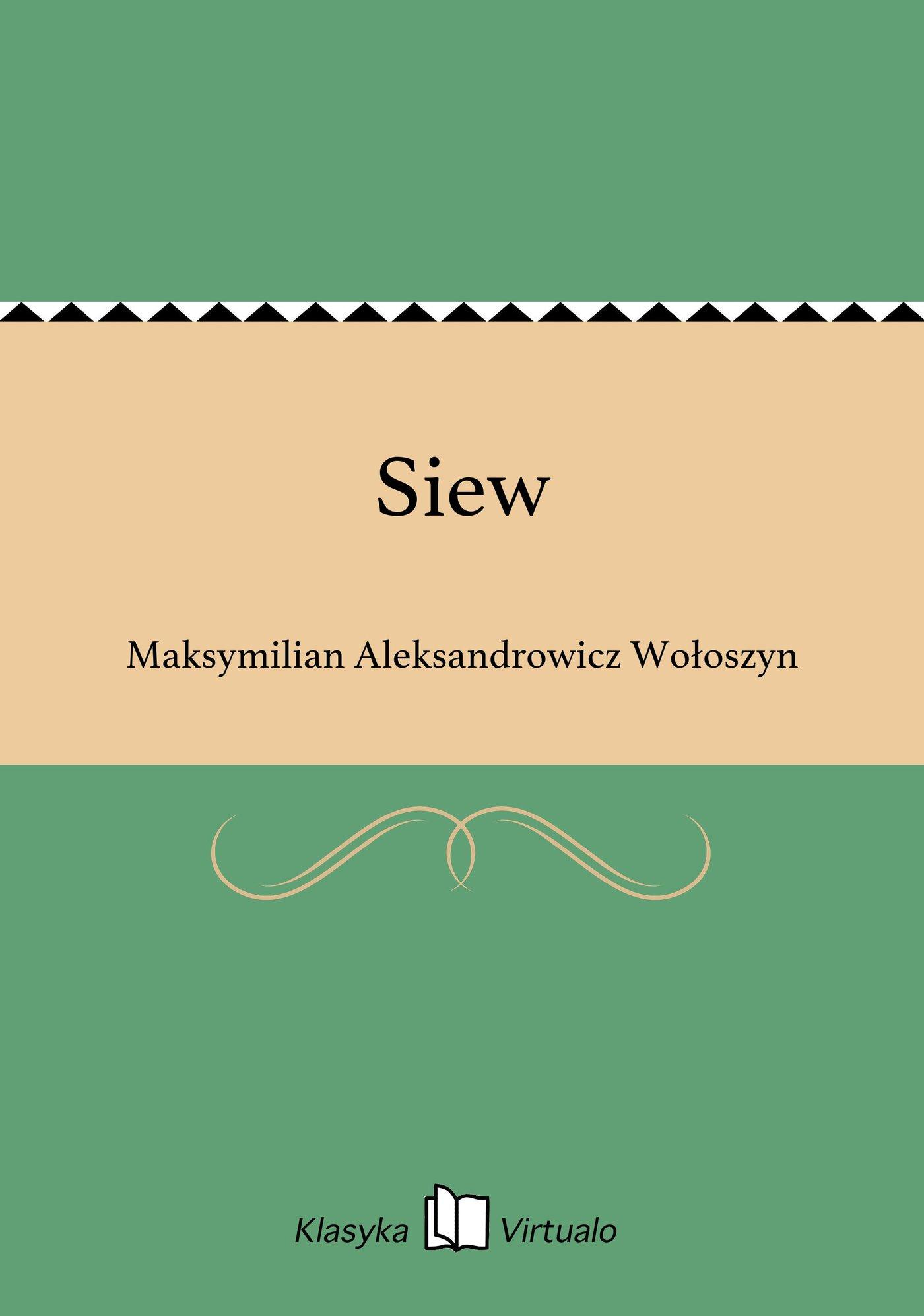 Siew - Ebook (Książka EPUB) do pobrania w formacie EPUB