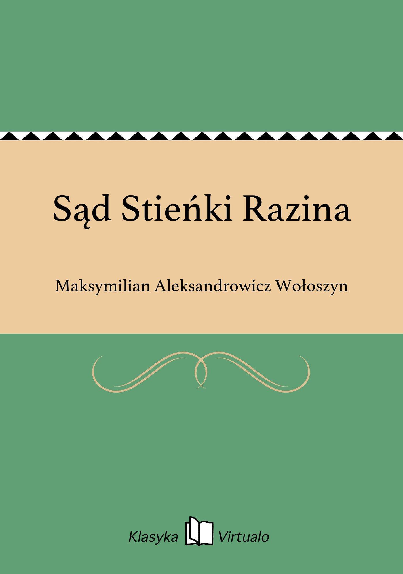 Sąd Stieńki Razina - Ebook (Książka EPUB) do pobrania w formacie EPUB