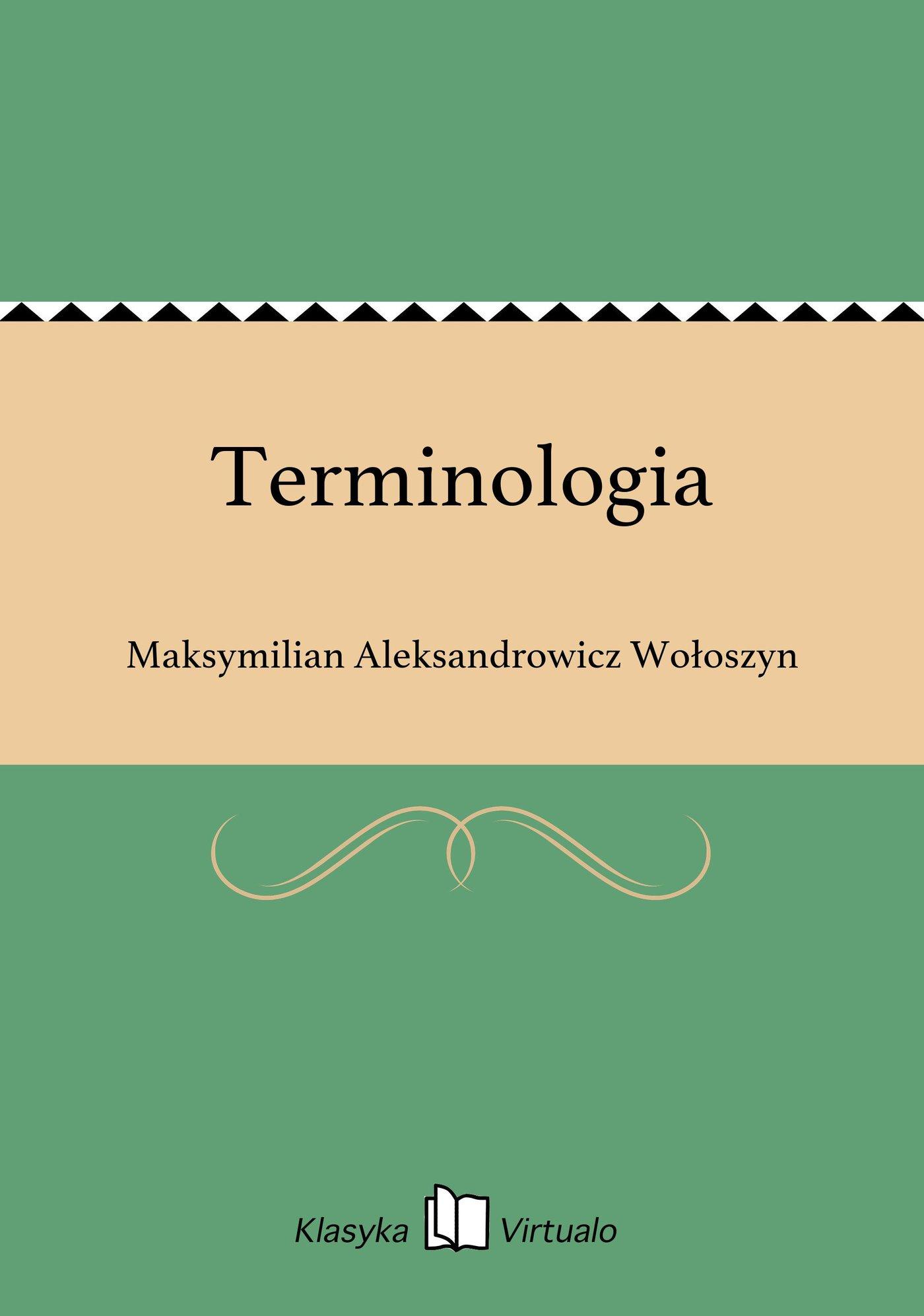 Terminologia - Ebook (Książka EPUB) do pobrania w formacie EPUB