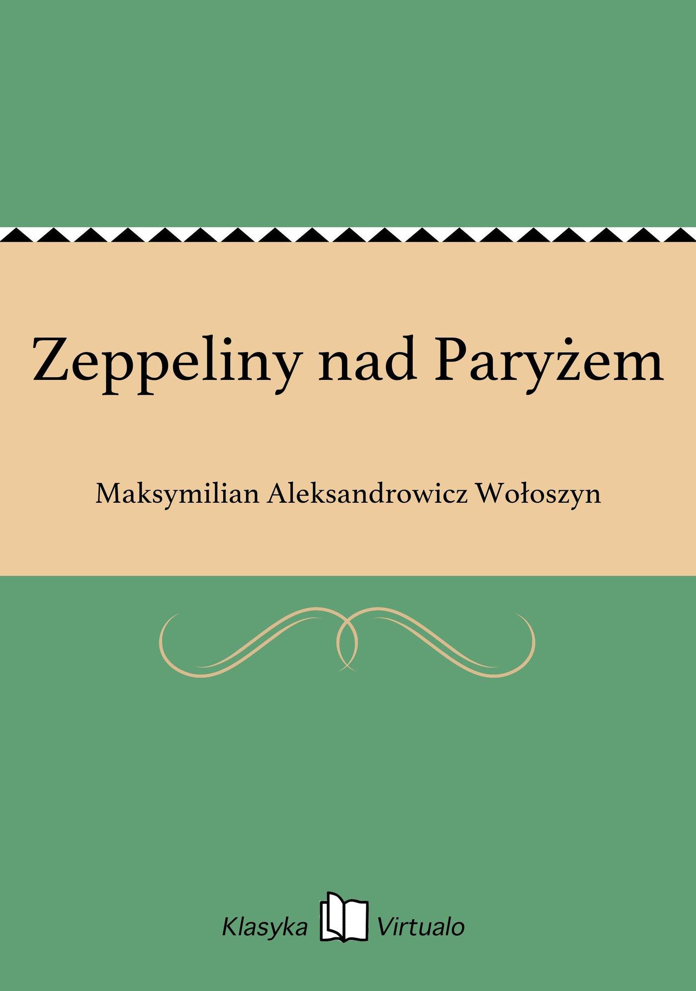 Zeppeliny nad Paryżem - Ebook (Książka EPUB) do pobrania w formacie EPUB