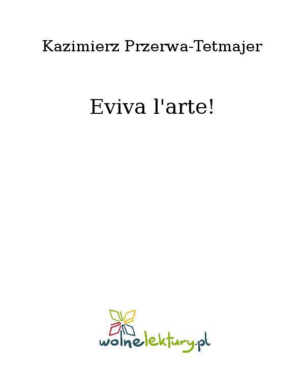 Eviva l'arte! - Ebook (Książka EPUB) do pobrania w formacie EPUB