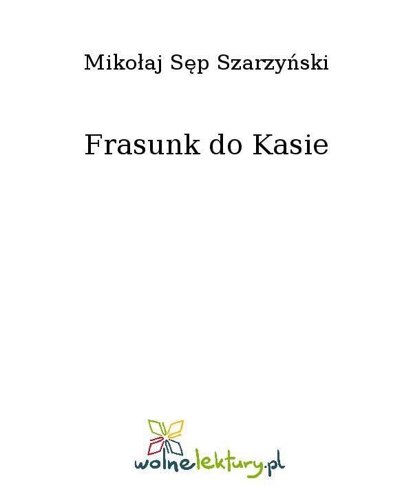 Frasunk do Kasie - Ebook (Książka EPUB) do pobrania w formacie EPUB