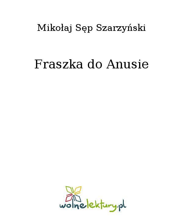 Fraszka do Anusie - Ebook (Książka EPUB) do pobrania w formacie EPUB