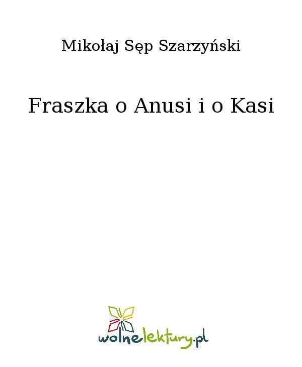 Fraszka o Anusi i o Kasi - Ebook (Książka EPUB) do pobrania w formacie EPUB