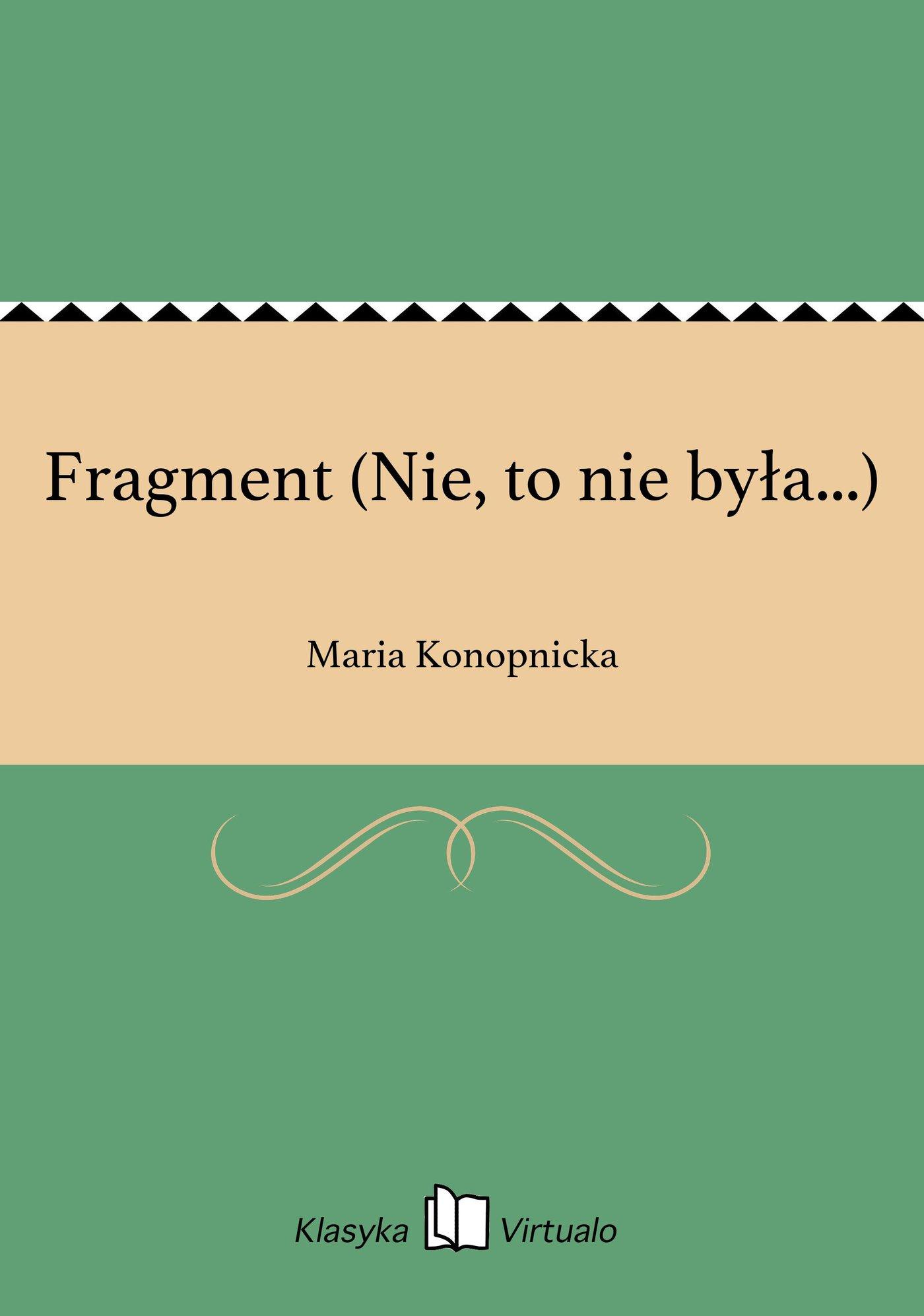 Fragment (Nie, to nie była...) - Ebook (Książka EPUB) do pobrania w formacie EPUB