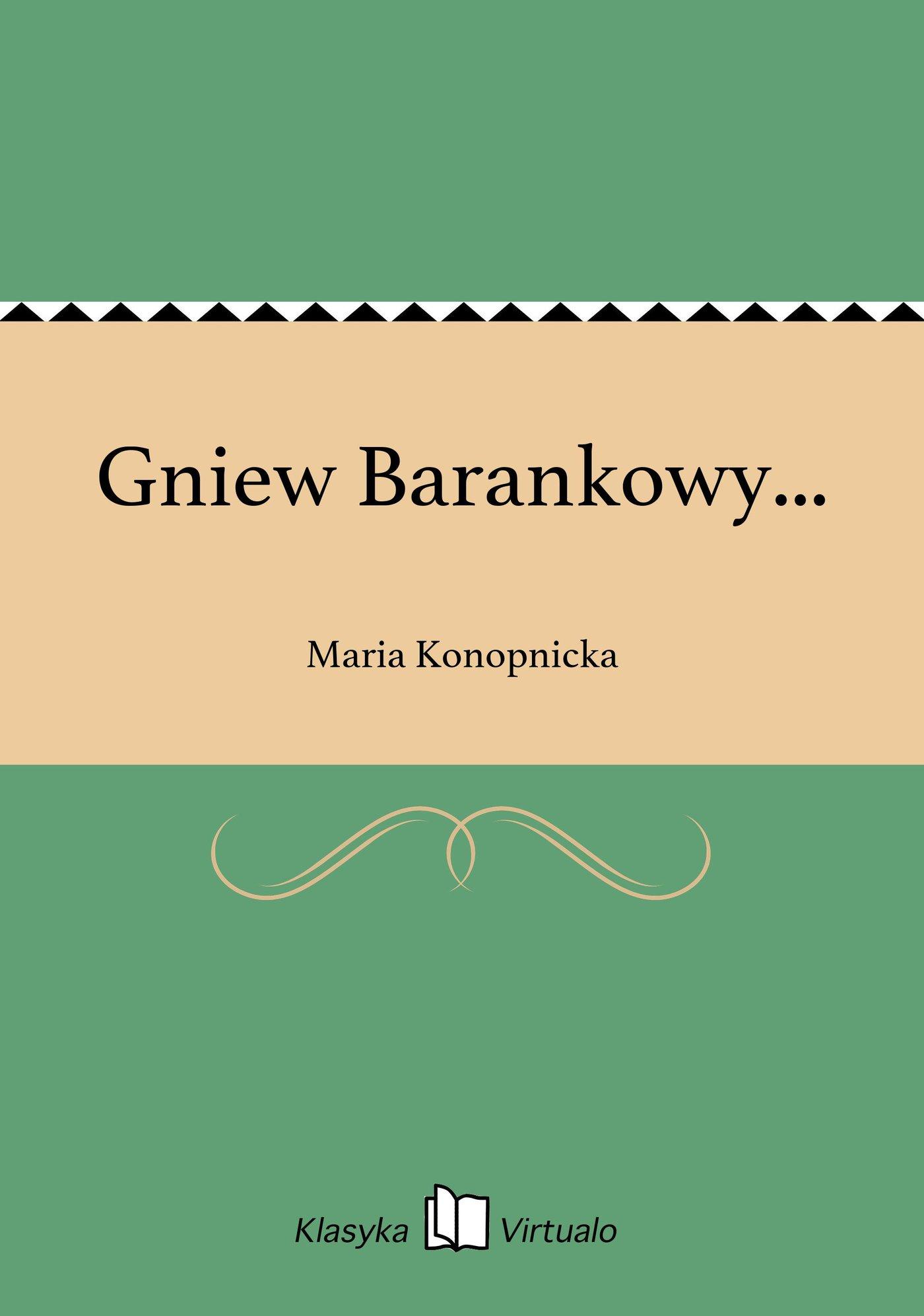 Gniew Barankowy... - Ebook (Książka EPUB) do pobrania w formacie EPUB
