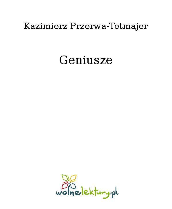 Geniusze - Ebook (Książka EPUB) do pobrania w formacie EPUB