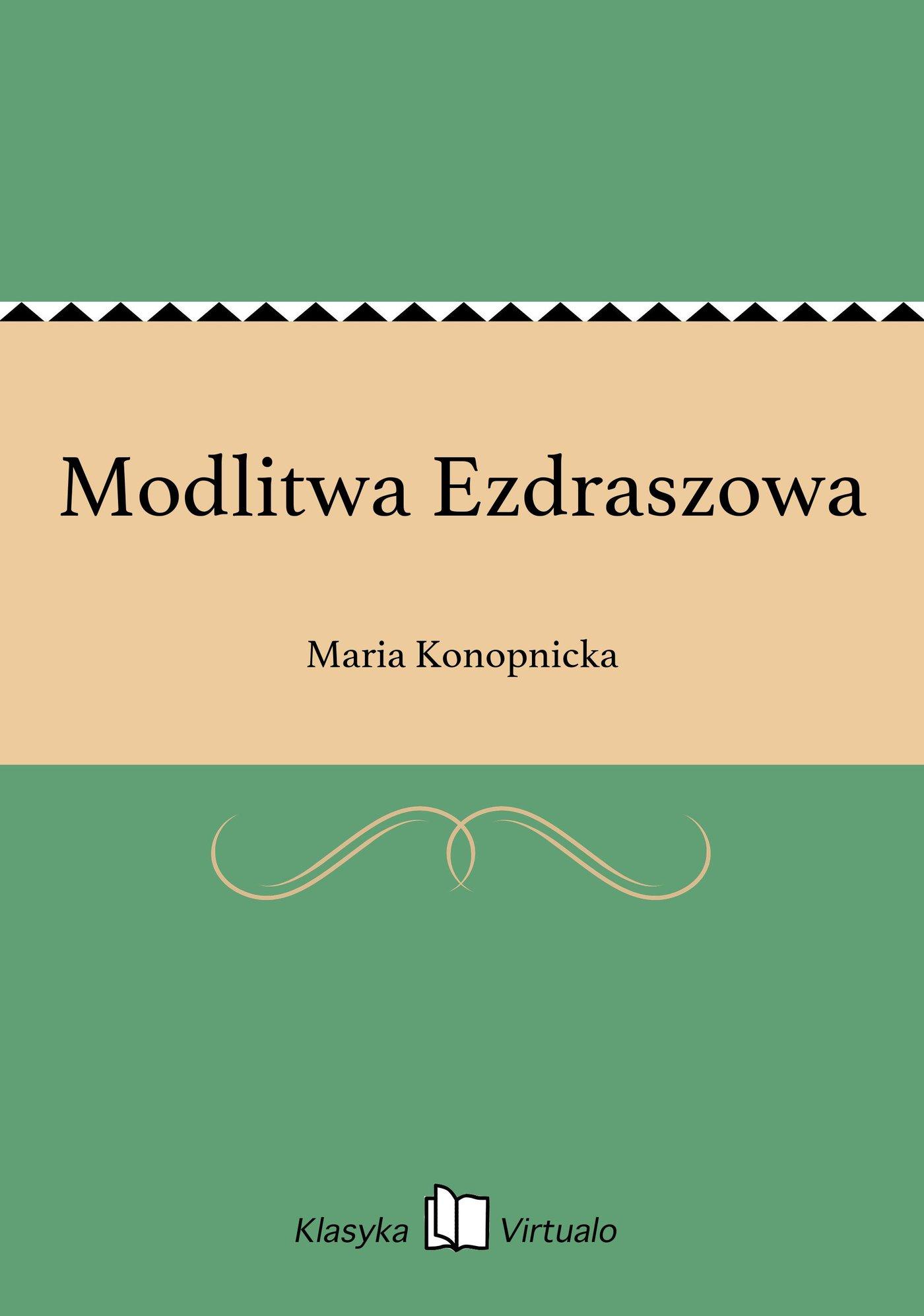 Modlitwa Ezdraszowa - Ebook (Książka EPUB) do pobrania w formacie EPUB